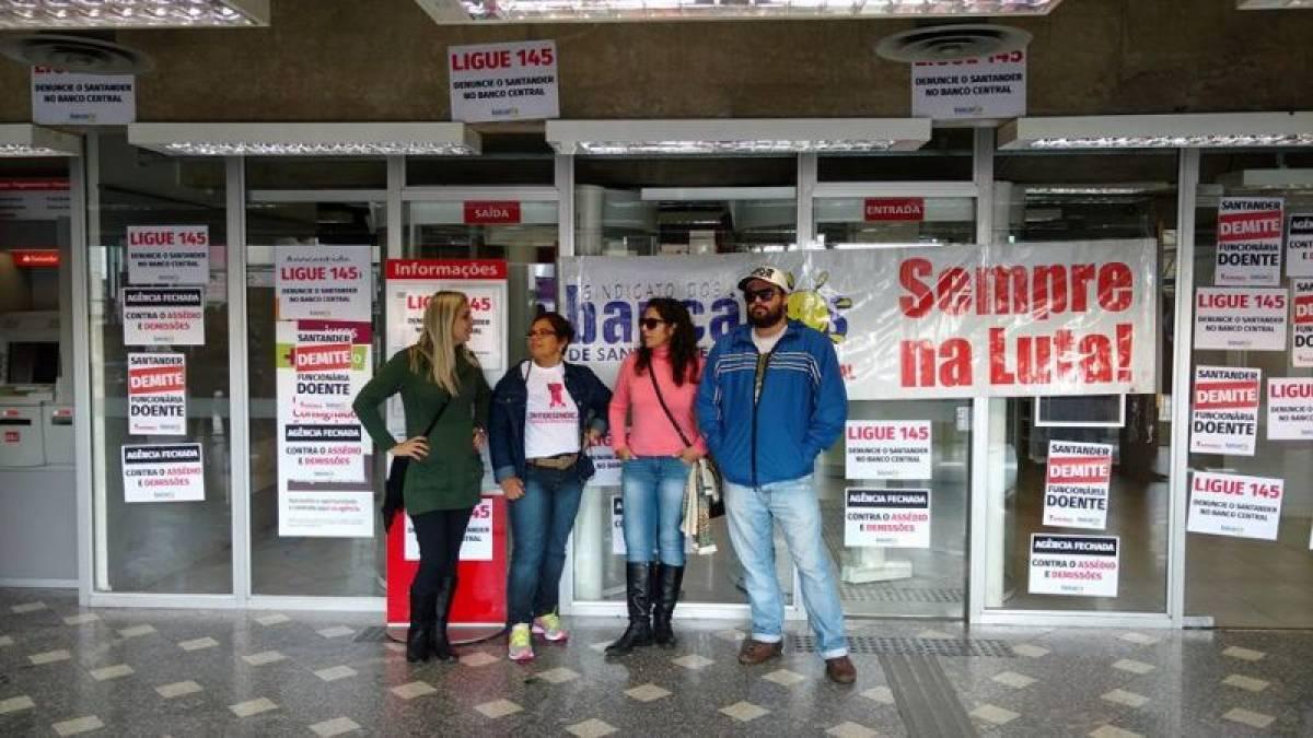 Santander tenta intimidar sindicato durante paralisação nesta sexta, 10