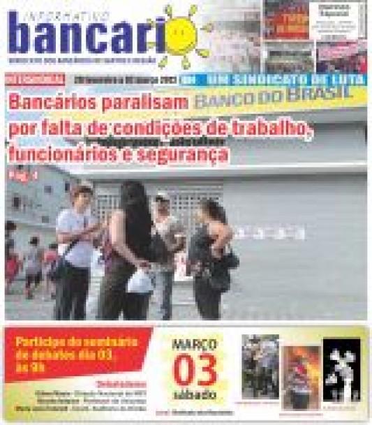 Bancários paralisam BB por falta de condições de trabalho