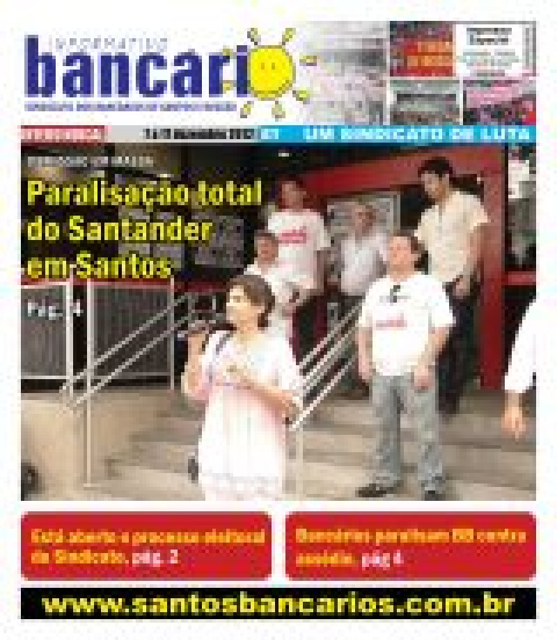 Paralisação total do Santander em Santos