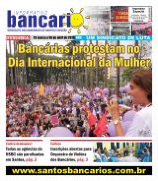 Bancárias protestam no  Dia Internacional da Mulher