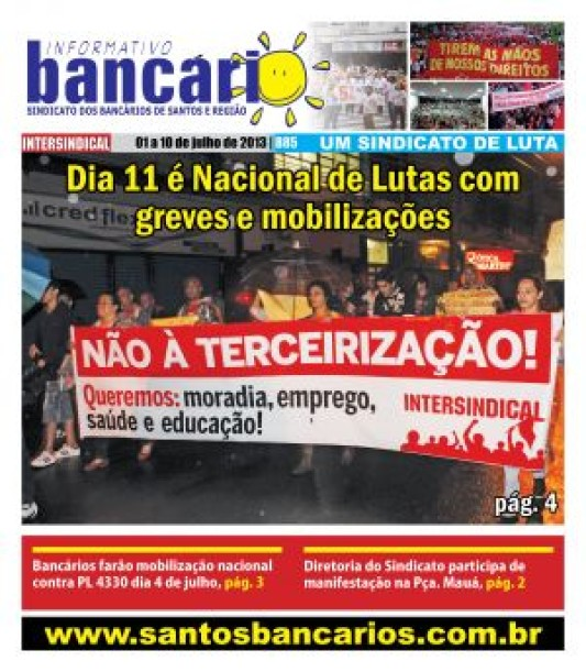 Dia 11 é Nacional de Lutas com greves e mobilizações