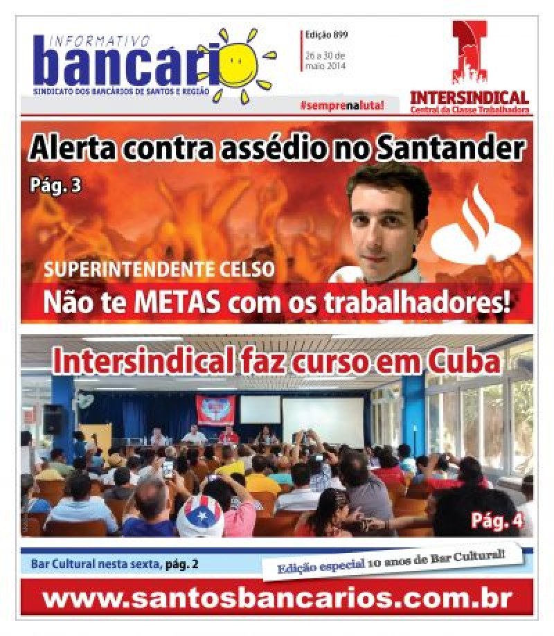 Alerta contra assédio no Santander