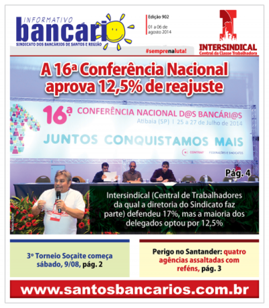 A 16ª Conferência Nacional  aprova 12,5% de reajuste