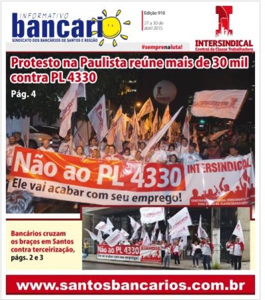 Protesto na Paulista reúne mais de 30 mil contra PL 4330