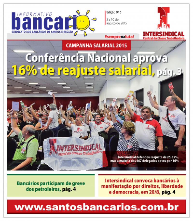 Conferência Nacional aprova  16% de reajuste salarial