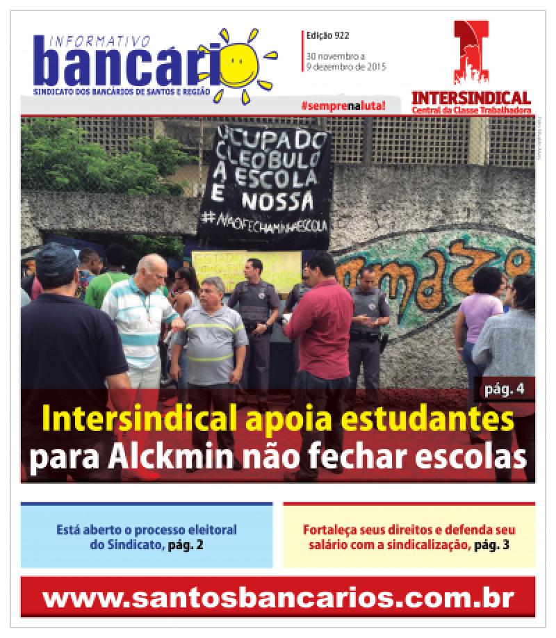 Intersindical apoia estudantes para Alckmin não fechar escolas