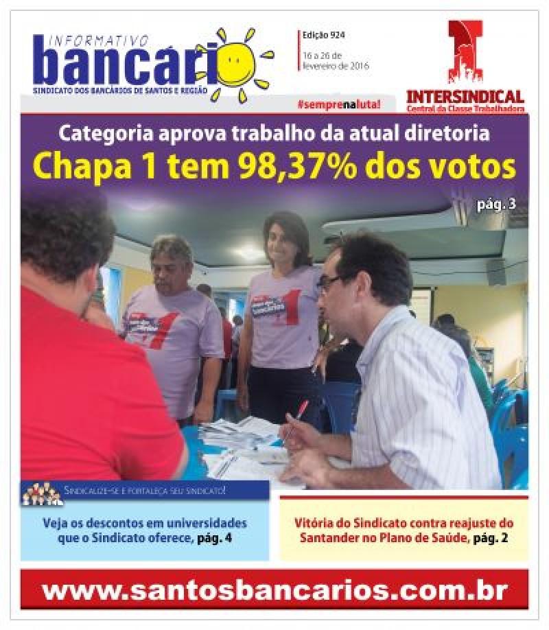 Chapa 1 tem 98,37% dos votos