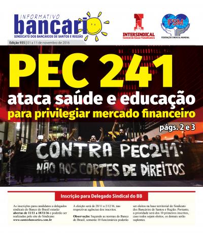 PEC 241 ataca saúde e educação para privilegiar mercado financeiro