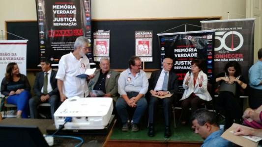 Trabalhadores participam de ato por Memória, Justiça e Reparação em SP