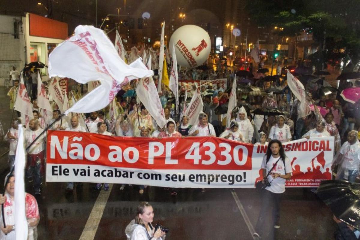 1º de Maio Classista contra o PL 4330 e o ajuste fiscal antipopular