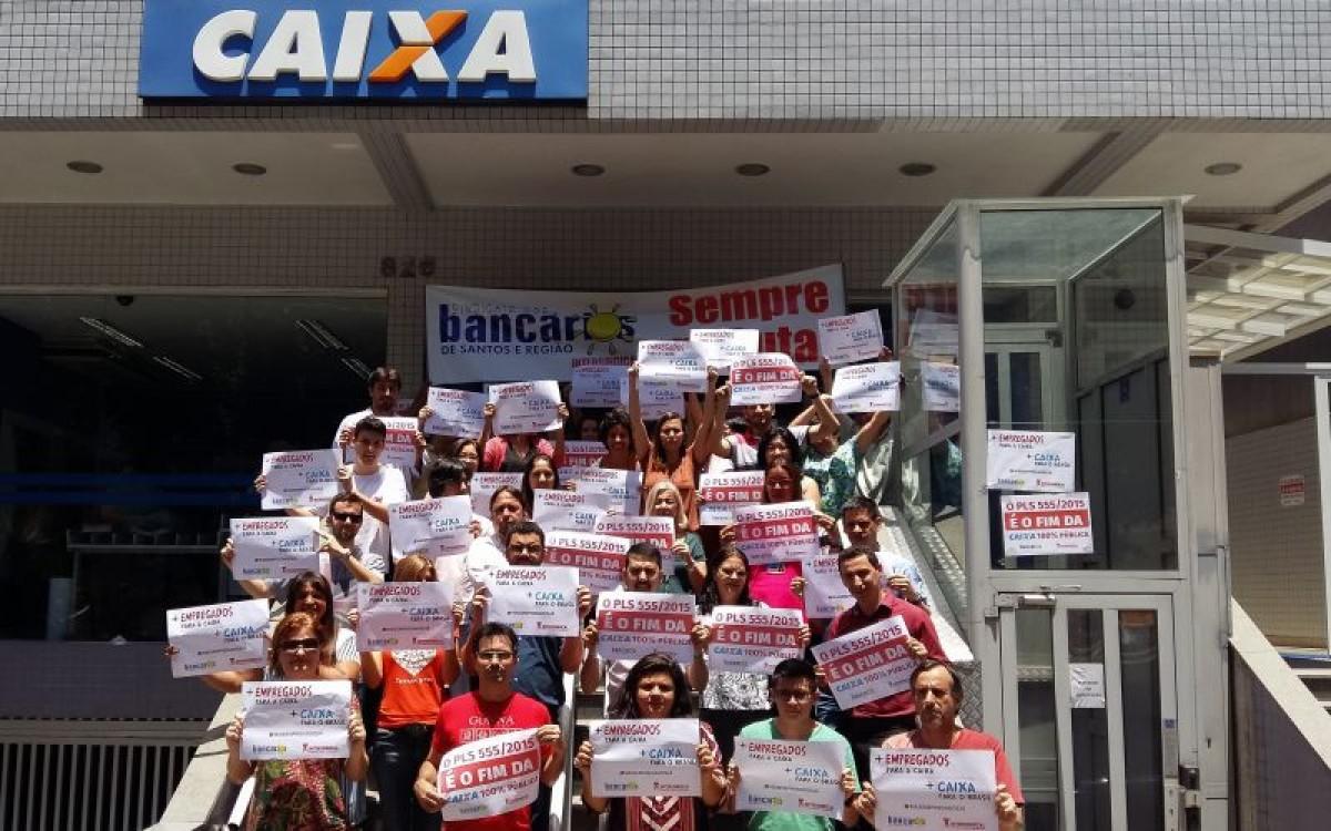 Bancários da Caixa devem se mobilizar contra reestruturação