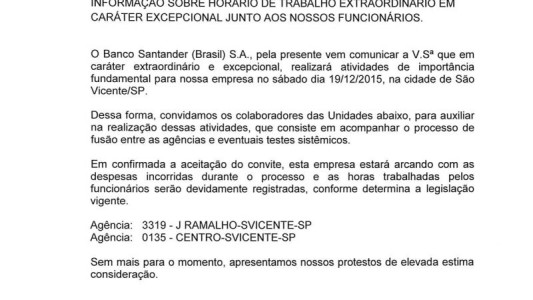 Fusão no Santander tem direitos garantidos depois de pressão do Sindicato