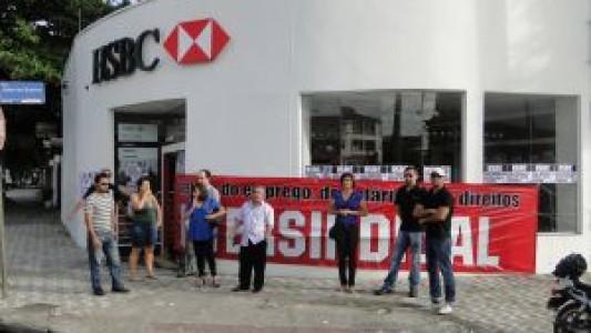 Demissão em massa: todas as agências do HSBC são paralisadas em Santos