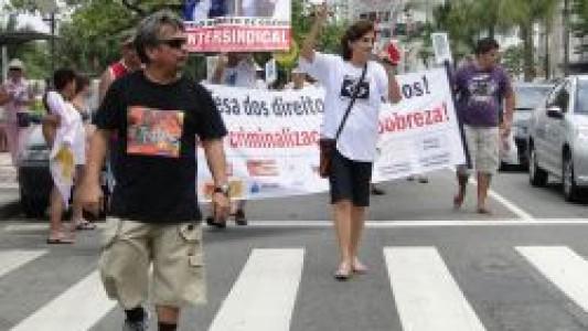 Caminhada em defesa dos direitos humanos