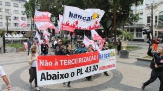 Todos (as) na luta contra o projeto de terceirização