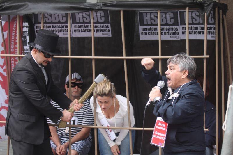 Paralisação no HSBC contra cárcere privado e interrogatório