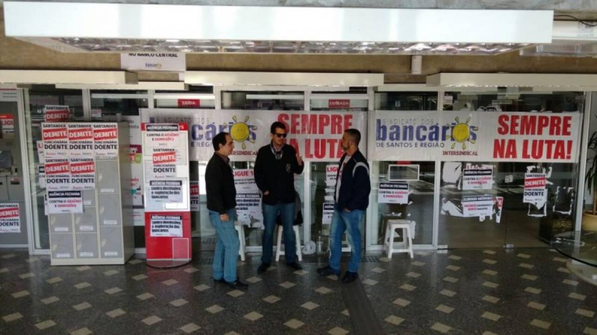 Paralisações no Santander em SV seguem firmes nesta terça, 14