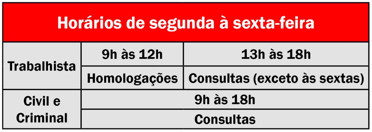 tabela jurídico