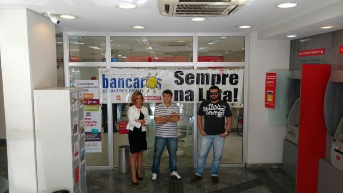 Santander não respeita vida de bancários após assalto em Santos