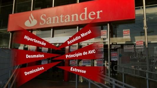 Inércia do Santander faz bancários adoecerem em São Vicente
