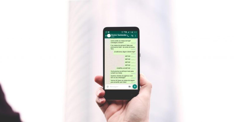 Santander usa whatsapp para assediar bancários