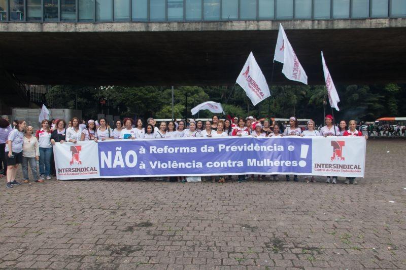 Ato das Mulheres em São Paulo - 8 de março