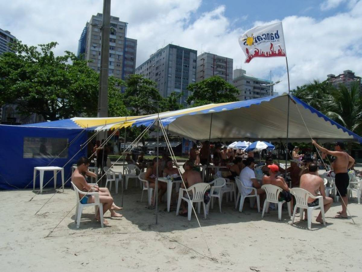 Barraca de praia do Sindicato é mais uma opção de lazer para os associados