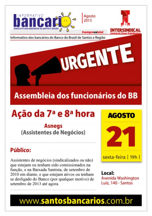 URGENTE: assembleia dos funcionários do BB