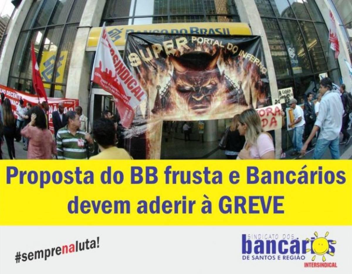 Proposta frustra expectativas e bancários devem aderir à greve