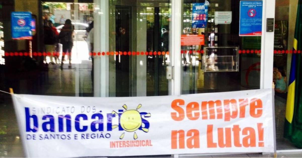 Sindicato fecha Bradesco em Santos por falta de condições de trabalho