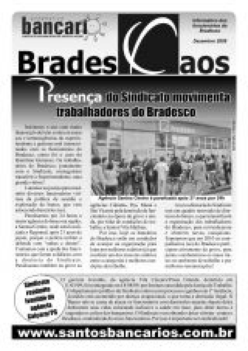 Presença do sindicato movimenta trabalhadores do Bradesco