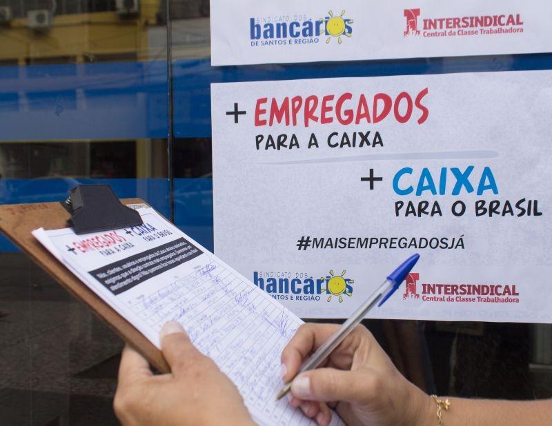 Imprima o abaixo-assinado que exige mais contratações na Caixa
