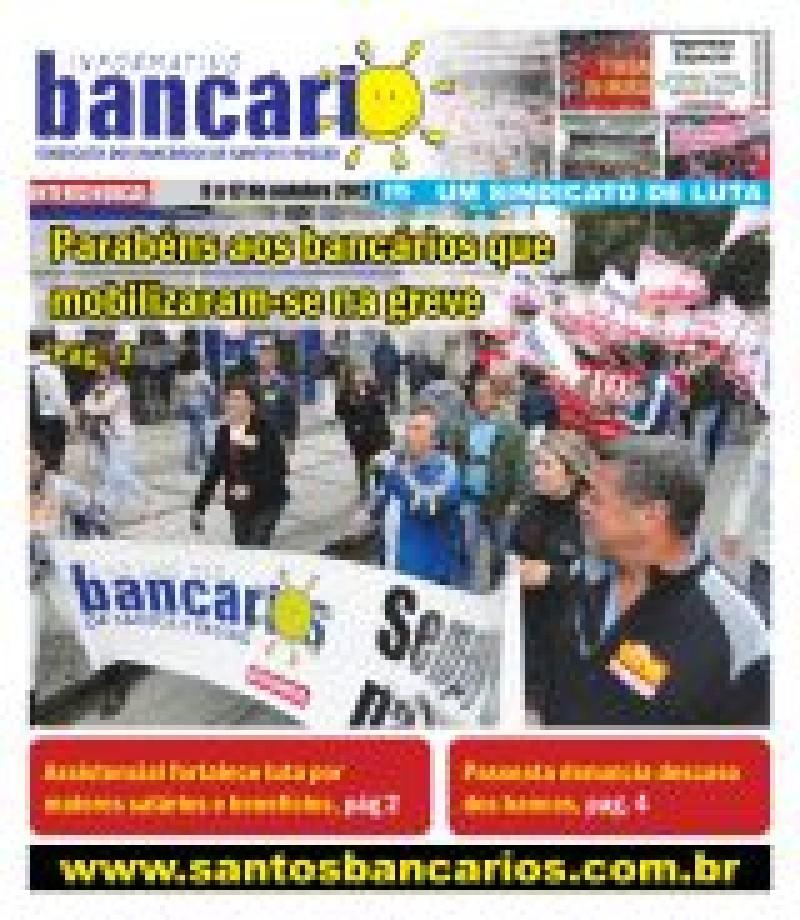 Parabéns aos bancários que mobilizaram-se na greve