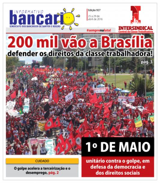 200 mil vão a Brasília defender os direitos da classe trabalhadora!