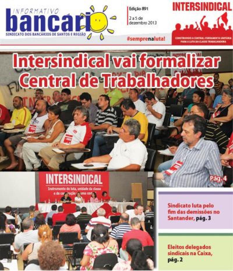Intersindical vai formalizar Central de Trabalhadores