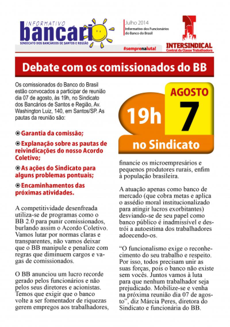 Debate com os comissionados do BB