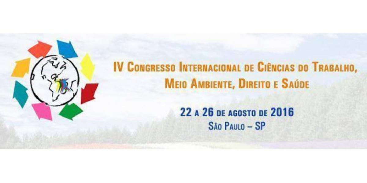 Congresso em SP discute  Ciências do Trabalho, Meio Ambiente, Direito e Saúde