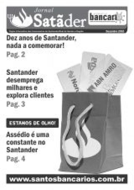 Dez anos de Santander, nada a comemorar!