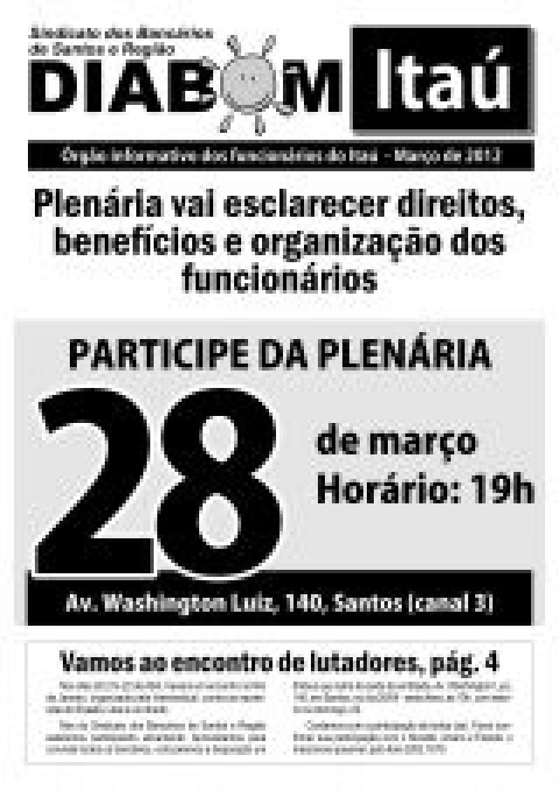 Plenário vai esclarecer direitos, benefícios e organização dos funcionários