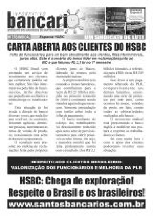 Carta aberta aos funcionários do HSBC