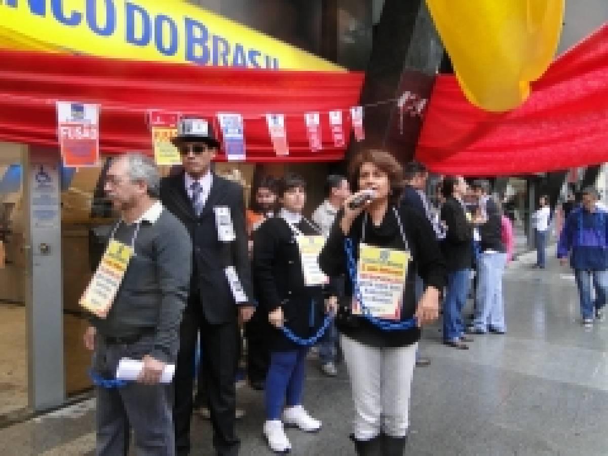 Lançamento da Campanha Salarial dos bancários em Santos, dia 02/08