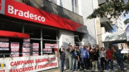 98% de agências paralisadas em Santos