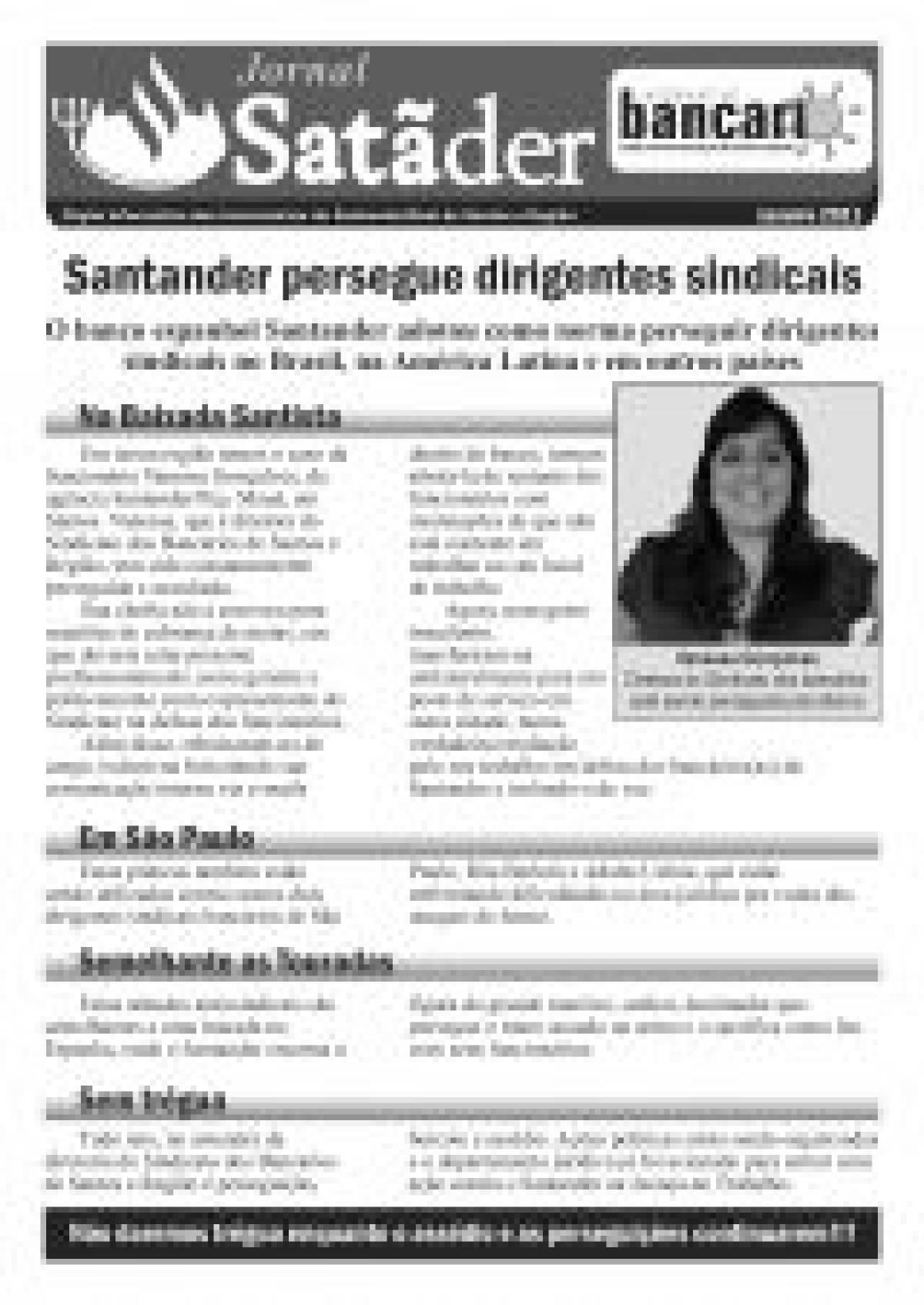 Santander persegue dirigentes sindicais