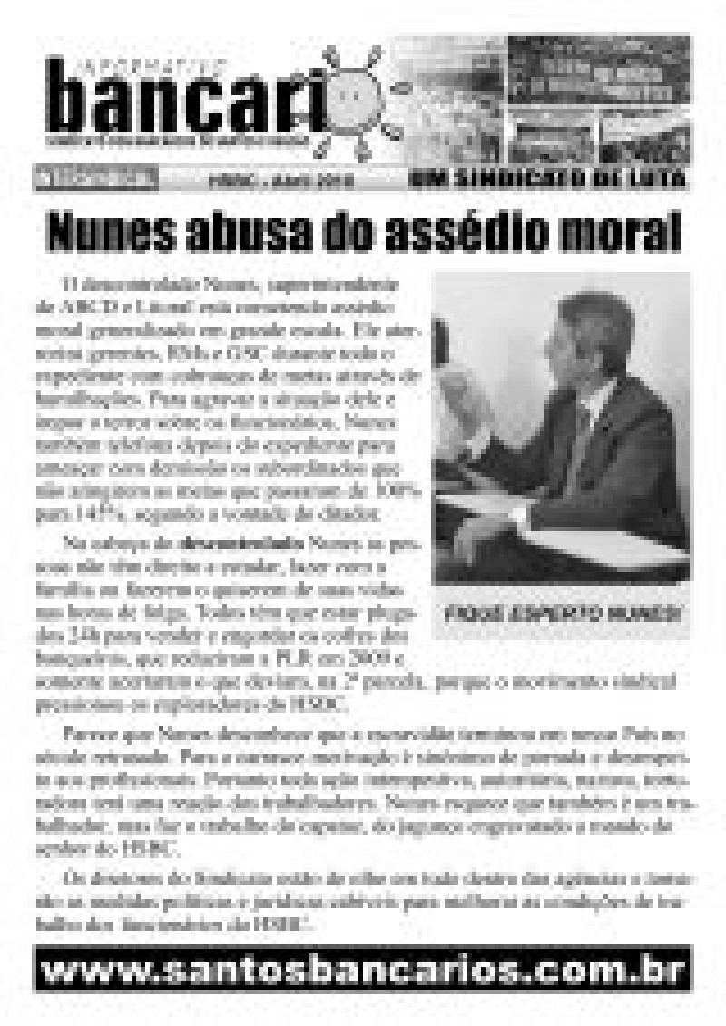 Nunes abusa do assédio moral