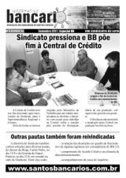 Sindicato pressiona e BB põe fim à Central de Crédito