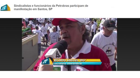 Intersindical e SEEB Santos e Região na contra a entrega do pré-sal e a privatização da Petrobrás