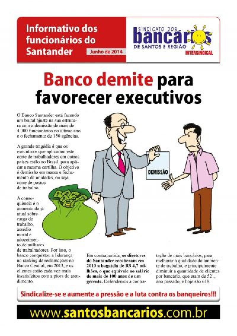 Banco demite para favorecer executivos