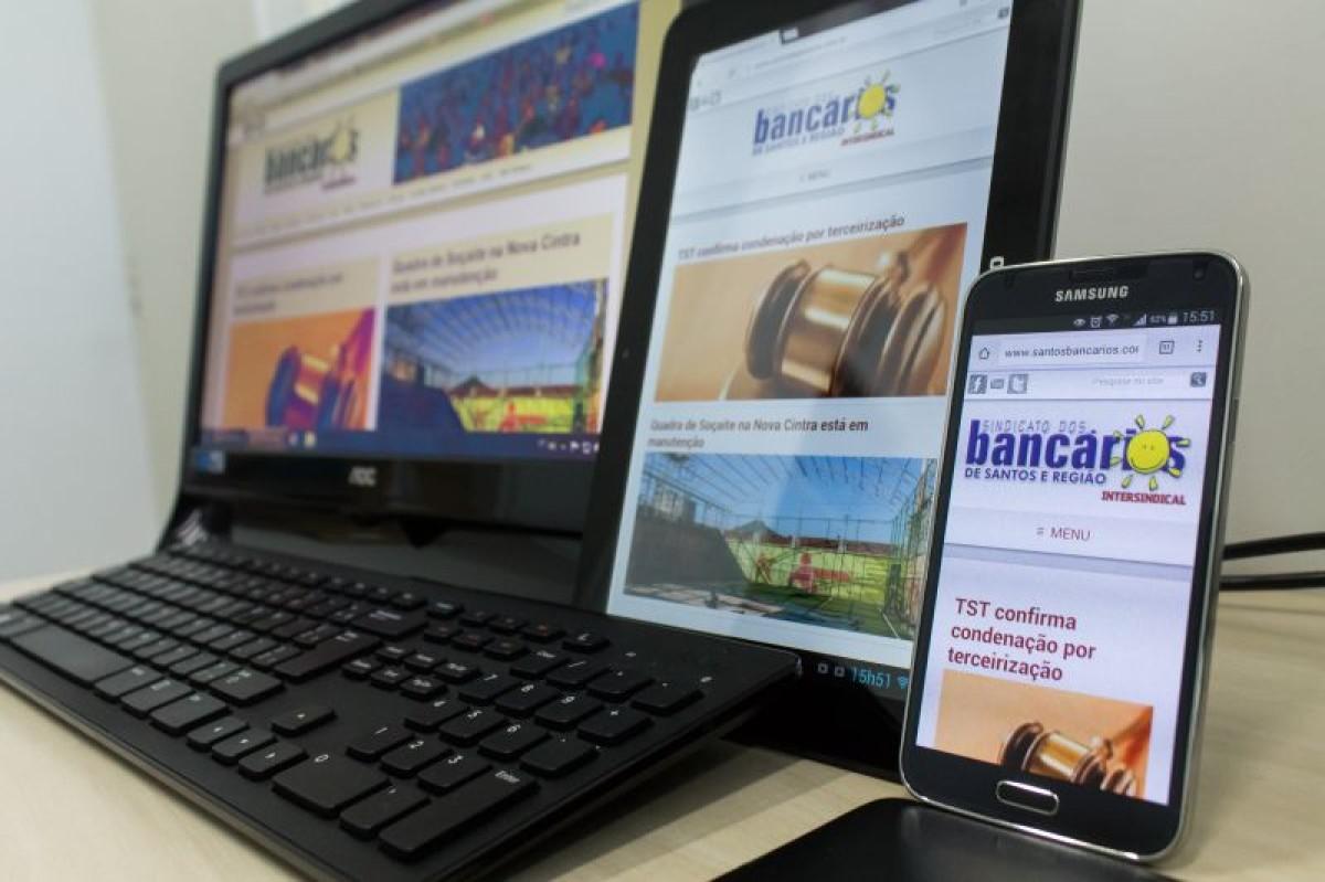 Novo site do Sindicato dos Bancários melhora acesso por celular e tablet