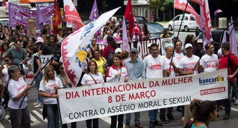 Diretoria participa da Marcha Unificada das Mulheres (8/3)