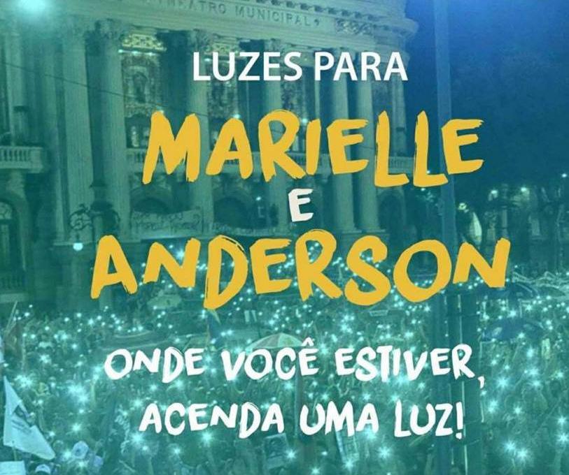 Luzes para Marielle e Anderson